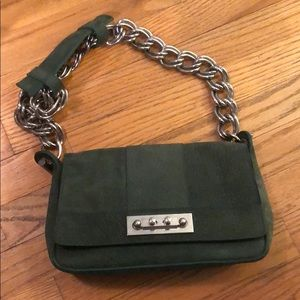 Calf skin green Chloe bag with chain strap